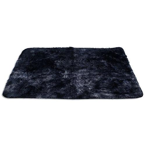 Dywan prostokątny pluszowy miękki 140x 200  czarny
