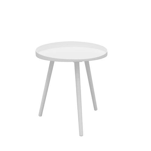 Stolik okrągły biały 48 cm