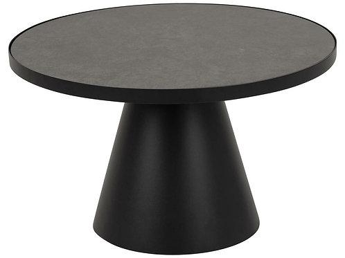 Czarny stolik kawowy okrągły Simon 85 cm