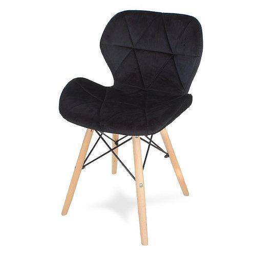 Krzesło welurowe czarne  Charles 2