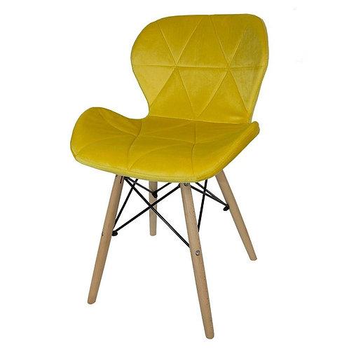 Krzesło żółte  welurowe Lusia 5