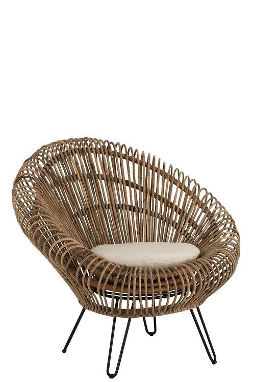 Fotel rattanowy BOHO