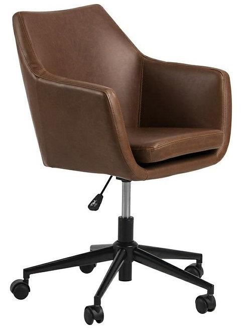 Fotel  biurowy obrotowy brązowy  Lord