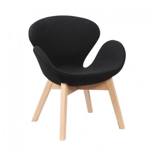 Czarny fotel  Tulip 33