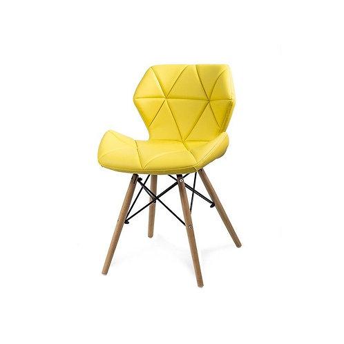 Krzesło tapicerowane Diamond Yellow