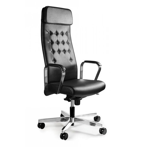Fotel biurowy ze skóry naturalnej - Executive