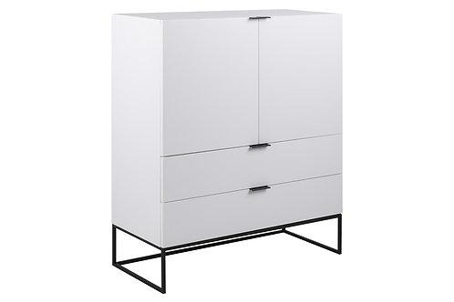 Komoda  biała 2 fronty, 2 szuflady