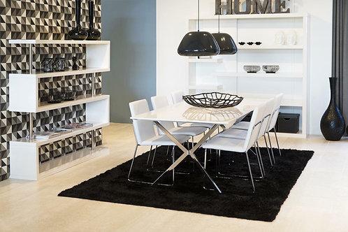 Krzesło tapicerowane skórą ekologiczną - białe