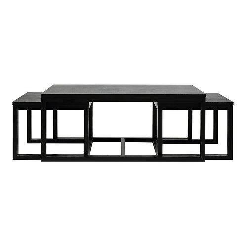 Zestaw czarnych stolików Luna 120 cm
