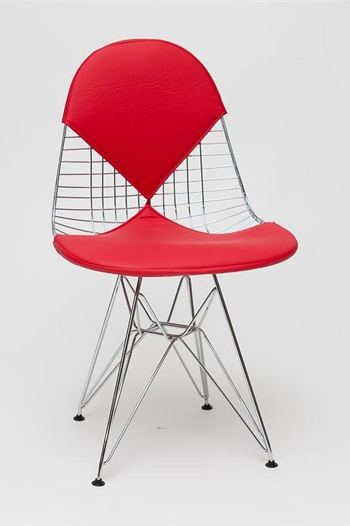 Krzesło czerwone  ażurowe  Rona
