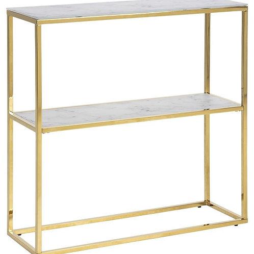 Stolik - konsola biały marmur złota Weronica 33