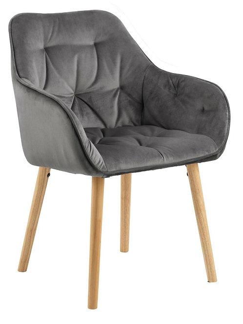 Krzesło szare welurowe  Antonio  2