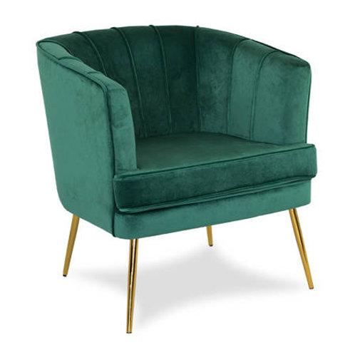 Fotel zielony welurowy  Angelika 35