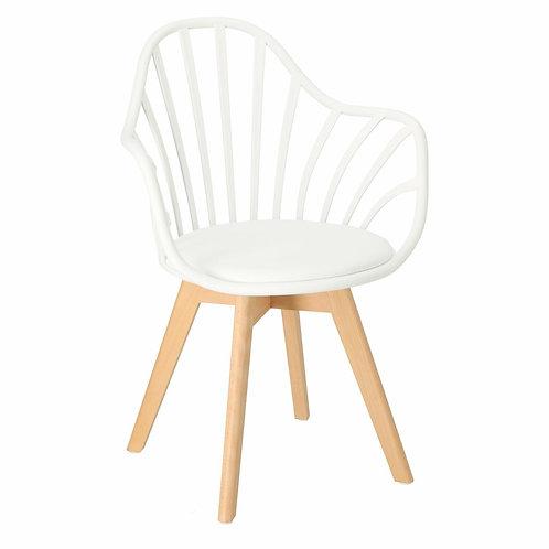 Krzesło białe  ażurowe Ariel 24