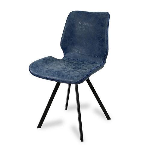 Krzesło tapicerowane  ekoskóra Blue