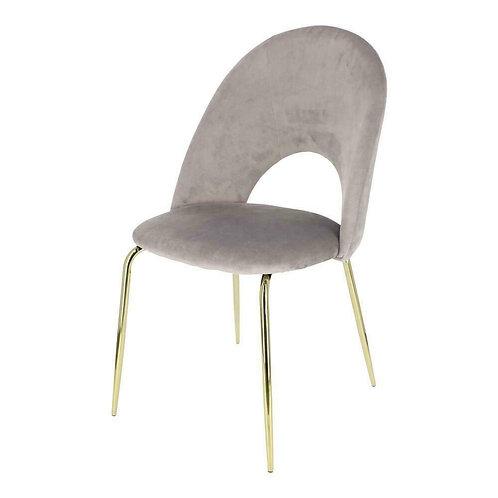 Krzesło szare Aurelia welur