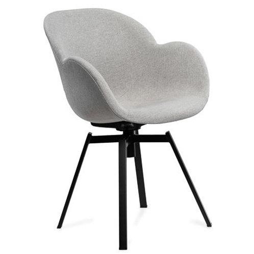 Krzesło jasno - szare obrotowe tapicerowane 222