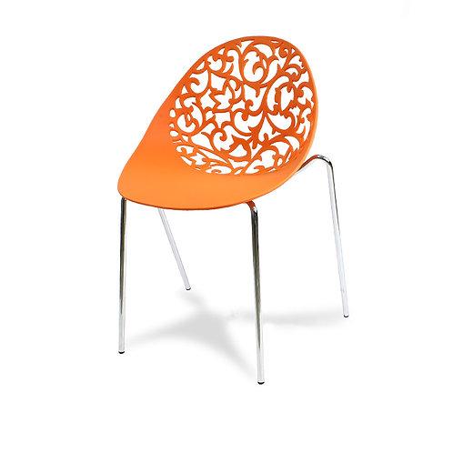 Krzesło ażurowe pomarańczowe Aurora