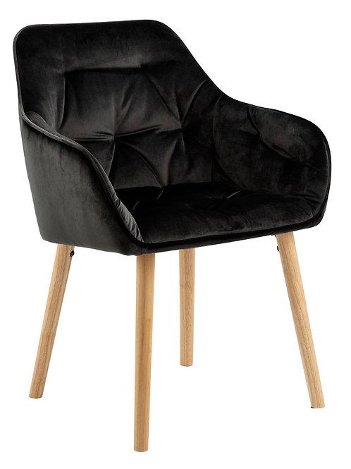 Krzesło czarne  welurowe  Antonio 1