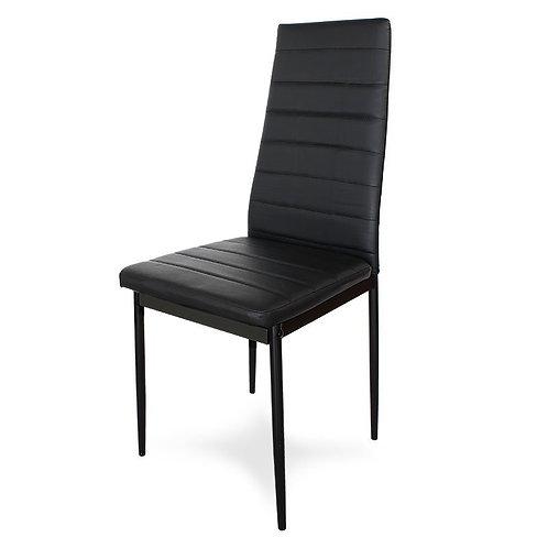 Krzesło czarne z ekoskóry Renata 2