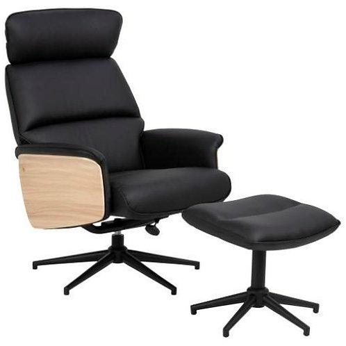 Fotel biurowy z podnóżkiem Lary