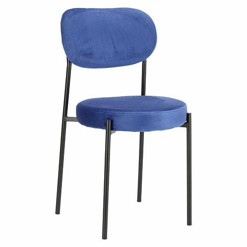 Krzesło niebieskie  welurowe Linda 66