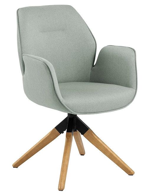 Krzesło obrotowe szare jasne nogi   Diego 44