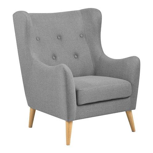 Fotel pikowany Hanower szary