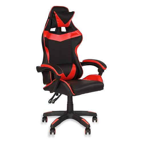 Fotel czarno - czerwony  biurowy gamingowy ekoskóra