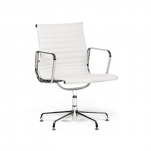 Fotel biurowy ze skóry  White 222