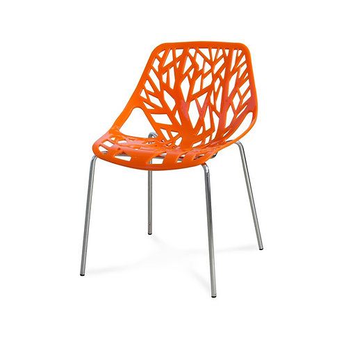 Krzesło pomarańczowe  Tree 4