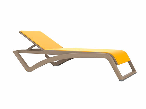 Leżak Bermudy Piaskowy / żółty