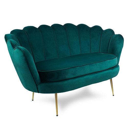 Sofa zielona  welurowa Bella 4