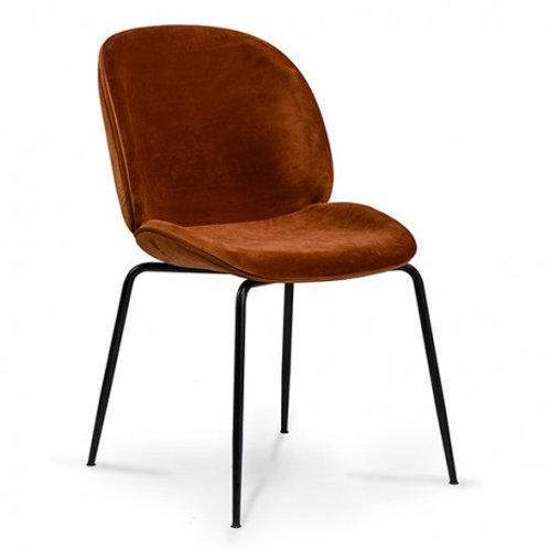 Krzesło rude  welurowe  Salomon