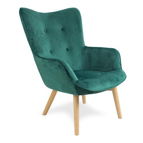 Fotel pikowany welurowy  Cozy 4