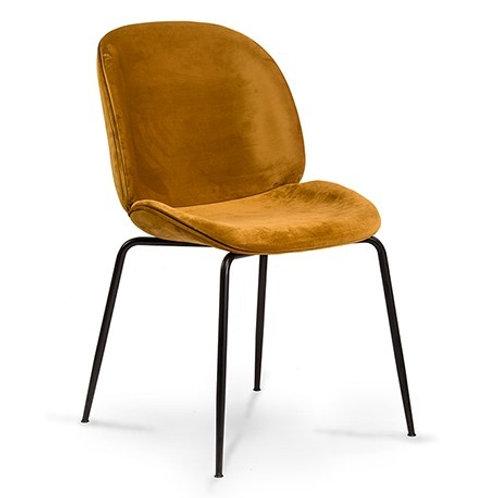 Krzesło żółte welurowe  Salomon