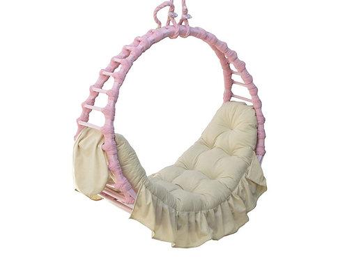 Fotel podwieszany różowy  Korsyka 4