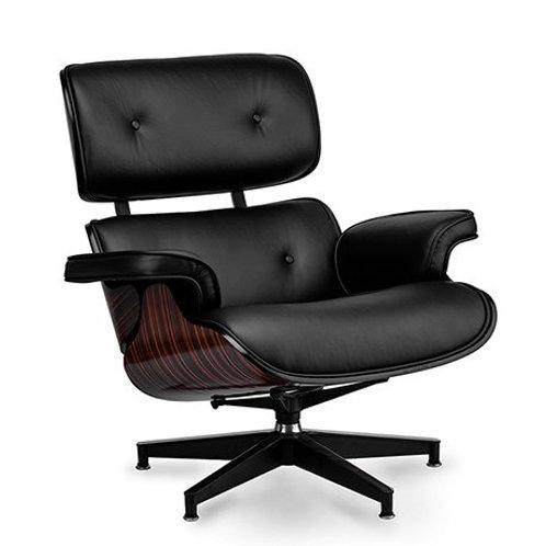 Fotel  Luxury Vip CZARNA SKÓRA/EBONY