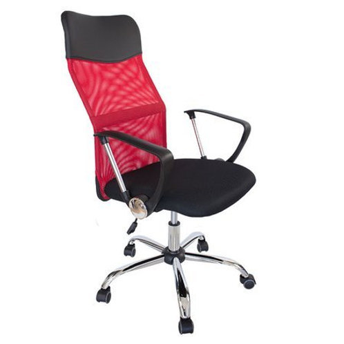 Czerwony fotel obrotowy biurowy  Boss 29