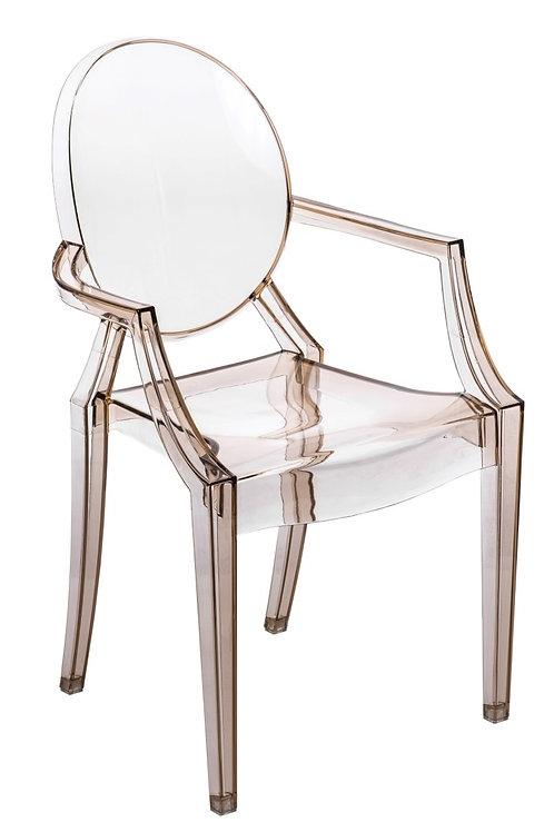 Krzesło transparentne bursztynowe