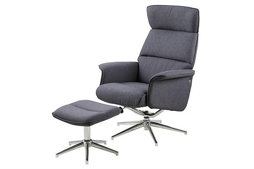 Fotel biurowy szary Luxi 22