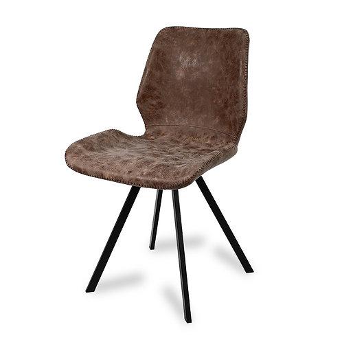 Krzesło tapicerowane  ekoskóra  Brown