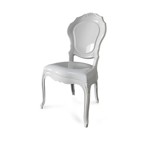 Transparent King Chair White