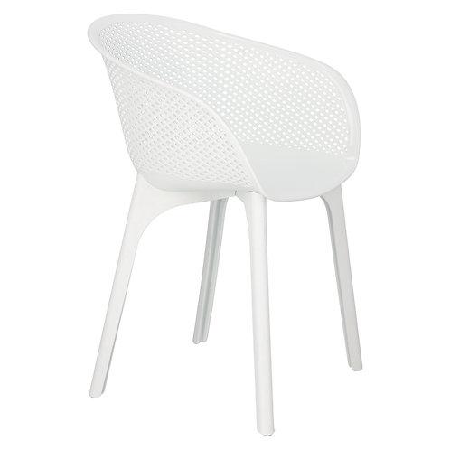 Krzesło białe ażurowe  Alicja 1
