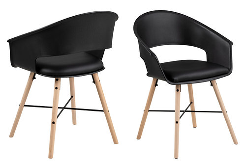 Krzesło  czarne Leopold