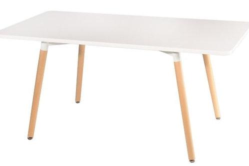 Prostokątny stół  - biały blat 160 x 80 cm