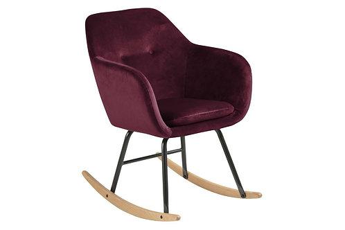 Fotel bujany - bordowy