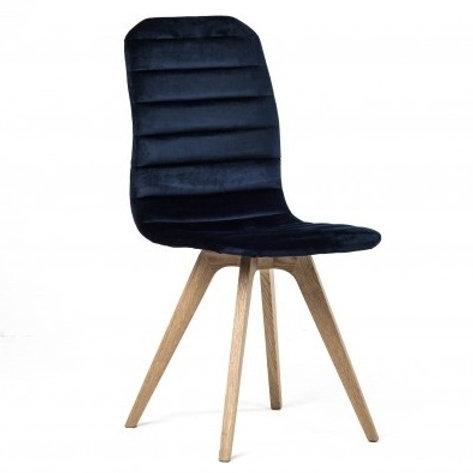Krzesło granatowe  welurowe Henryk 21