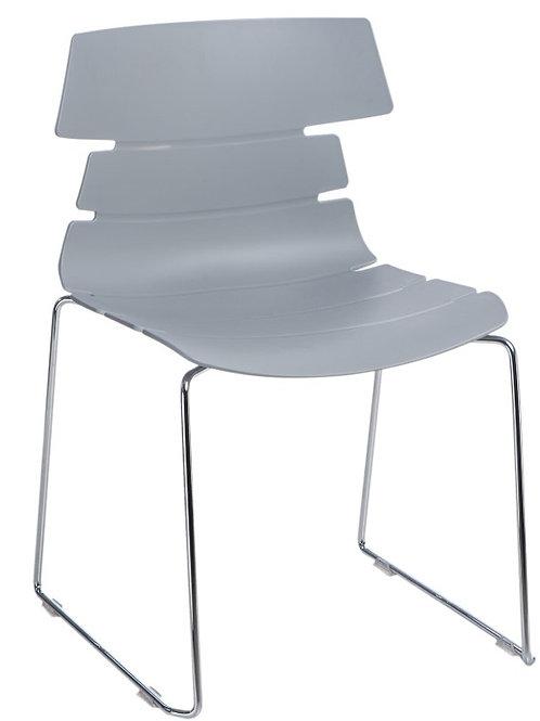 Krzesło  Anturis - czarne - białe - szare