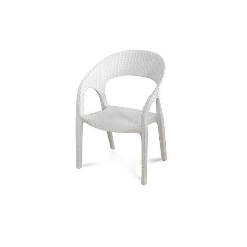 Krzesło dziecięce ratanowe - White Flower